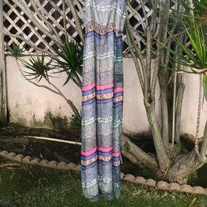 EUC Multi-Color Maxi Dress